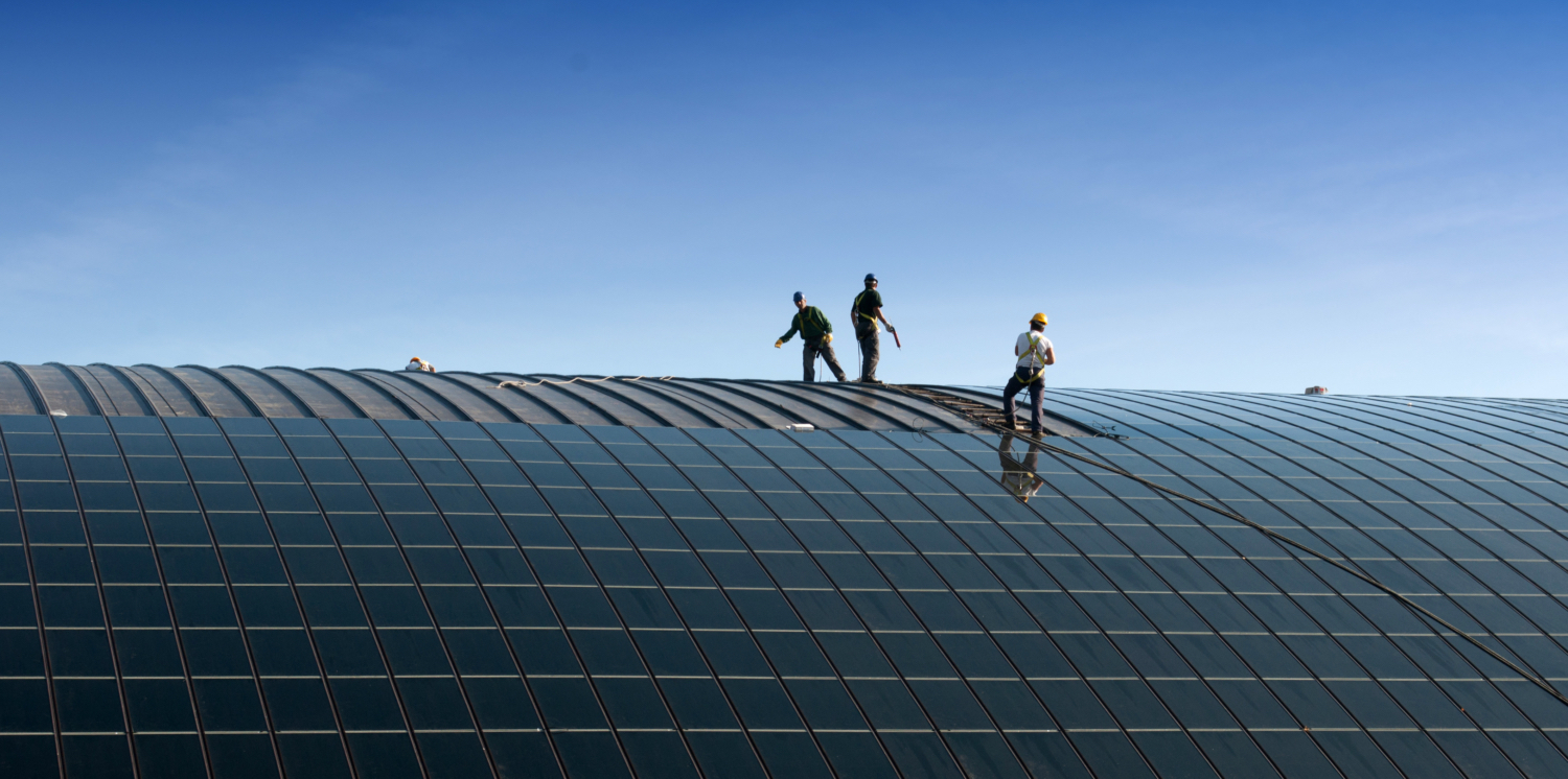 Solar PV panels on rooftop